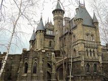 Beautiful Gothic castle in Samara region. 20 April 2017 royalty free stock photo