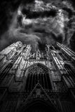 Beautiful Gothic cathedral from Bruxelles Brusels Stock Photo
