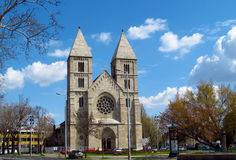 Beautiful gothic cathedral in Europe royalty free stock images