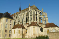 Beautiful gothic cathedral in France Royalty Free Stock Images