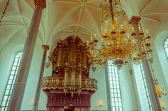 Beautiful gothic church in Kristianstad, Sweden Royalty Free Stock Images