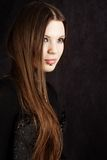 Beautiful gothic girl. Studio work with black background Royalty Free Stock Photo