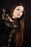 Beautiful gothic girl. Studio work with black background Stock Photo
