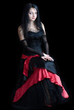 Beautiful gothic girl stock images