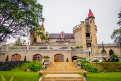 Beautiful gothic medieval Castle Museum in Stock Photos