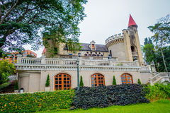 Beautiful gothic medieval Castle Museum in. Beautiful gothic medieval Castle Museum facade in Medellin, Colombia, South America Royalty Free Stock Image