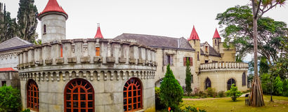 Beautiful gothic medieval Castle Museum in Royalty Free Stock Images