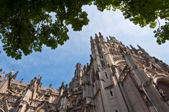 Beautiful Gothic style cathedral in Den Bosch, Netherlands. Detailed exterior design of the most popular landmark in Den Bosch Stock Photography