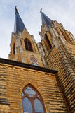 Beautiful Gothic Style Church Steeples Rise High i Stock Image
