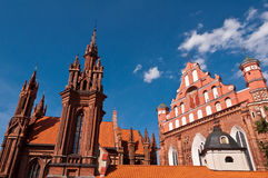 Beautiful Gothic Style St. Anne Church. In Vilnius, Lithuania on a Beautiful Summer Day Stock Photography