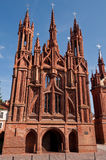 Beautiful Gothic Style St. Anne Church Stock Image