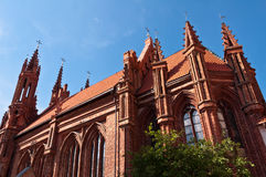 Beautiful Gothic Style St. Anne Church Royalty Free Stock Images