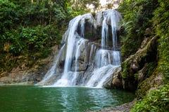 Beautiful Gozalandia Waterfall in San Sebastian Puerto Rico stock image