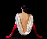 Elegant Back of a Woman Stock Image