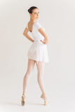 Beautiful and graceful ballerina. stock images