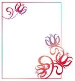 Beautiful gradient frame. Raster clip art. Stock Image