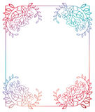 Beautiful gradient frame. Raster clip art. Stock Photo