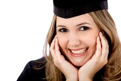 Beautiful graduate female Royalty Free Stock Image