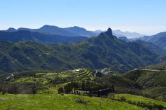 Beautiful Gran Canaria mountain landscape. Canary island, Spain Stock Images