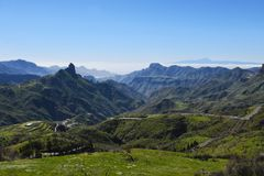 Beautiful Gran Canaria mountain landscape. Canary island, Spain royalty free stock images