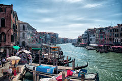 Beautiful Grand Canal Venice Italy August 2016 Stock Image