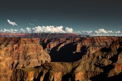 Black film toned beautiful grand canyon landscape royalty free stock photos