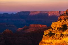 Beautiful and dramatic Grand Canyon overlook royalty free stock image