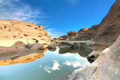 The Beautiful grand canyon name is sampanbok in ubon ratchathani thailand Stock Image