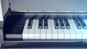 Beautiful Grand Piano Keys with mirror reflections Stock Photography