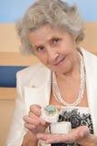 Beautiful grandmother Stock Photos