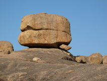 Beautiful granite boulder Stock Photography