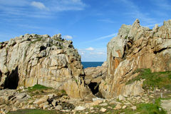 Beautiful granite cliffs at the sea coast royalty free stock images