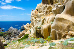 Beautiful granite coast of sardinia Royalty Free Stock Photography
