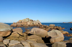 Beautiful granite rock at seaside Stock Image