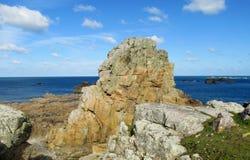Beautiful granite rock at seaside stock photography