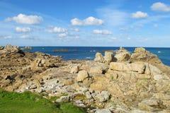 Beautiful granite rocks landscape at seaside stock image
