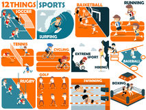 Beautiful graphic design of  sports Stock Photos