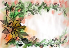 Beautiful graphic drawing of flowers Royalty Free Stock Images