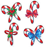 Beautiful graphic hand drawn christmas cane  illustration Stock Images