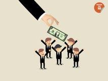 Beautiful graphics design of business bonus and benefit Royalty Free Stock Photos