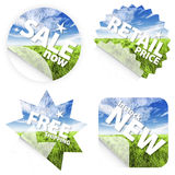 Beautiful grass stickers royalty free illustration