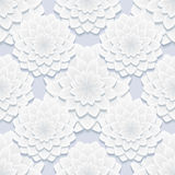 Beautiful gray seamless pattern with flowers Royalty Free Stock Images