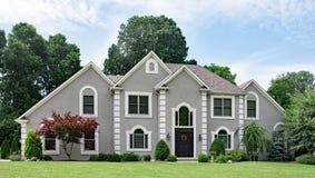 Free Beautiful Gray Stucco Luxury Home Stock Photos - 149898303