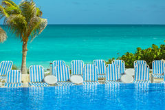 Beautiful great view of natural tropical carribean landscape Royalty Free Stock Photos