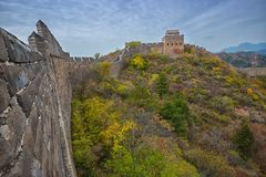The beautiful great wall of China royalty free stock photos