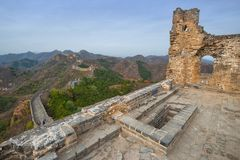 The beautiful great wall of China royalty free stock photo