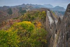 The beautiful great wall of China stock photo