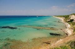 Beautiful Greece sea landscape. Beautiful Greece see landscape with crystal clear blue water Stock Photos