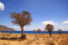 Beautiful greece, wonderful island and sea. Greek wonderful island and sea Royalty Free Stock Photos