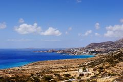 Beautiful greece, wonderful island and sea. Greek city on a wonderful island Stock Images